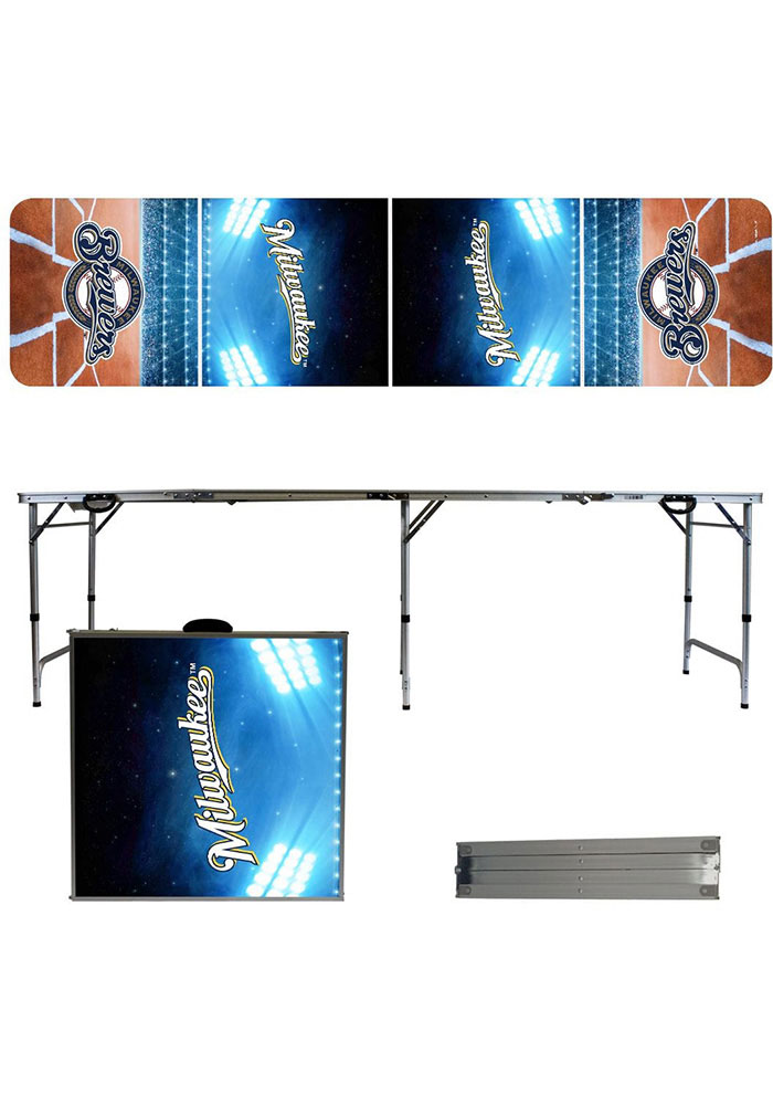 Milwaukee Brewers 2x8 Tailgate Table - Image 1