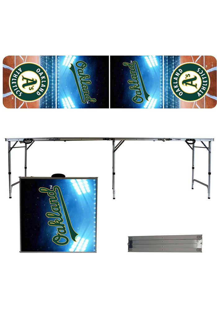 Oakland Athletics 2x8 Tailgate Table - Image 1