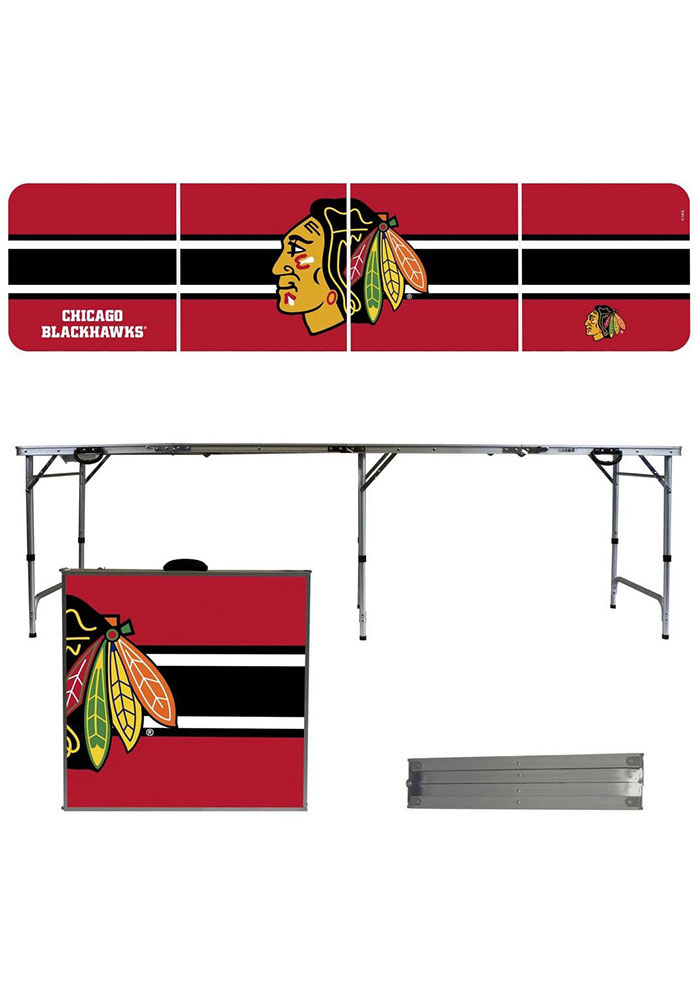 Chicago Blackhawks 2x8 Tailgate Table - Image 1