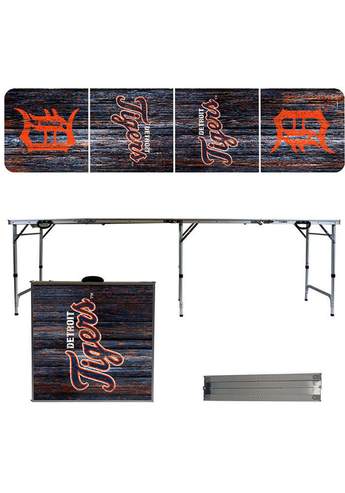 Detroit Tigers 2x8 Tailgate Table - Image 1