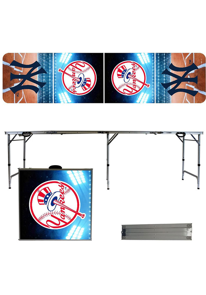 New York Yankees 2x8 Tailgate Table - Image 1