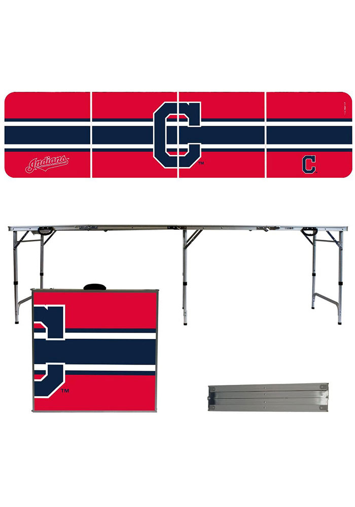 Cleveland Indians 2x8 Tailgate Table - Image 1