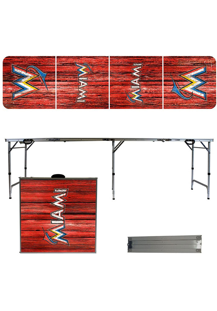 Miami Marlins 2x8 Tailgate Table - Image 1