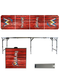 Miami Marlins 2x8 Tailgate Table