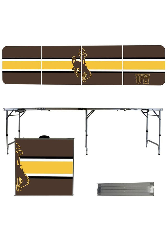 Wyoming Cowboys 2x8 Tailgate Table - Image 1