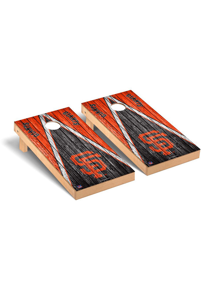 San Francisco Giants Triangle Regulation Cornhole Tailgate Game - Image 1
