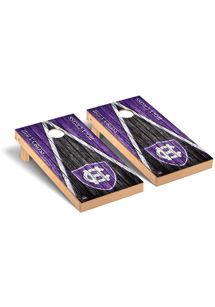 Holy Cross Crusaders Triangle Regulation Cornhole Tailgate Game - Image 1