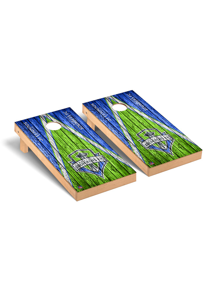 Seattle Sounders FC Triangle Regulation Cornhole Tailgate Game - Image 1