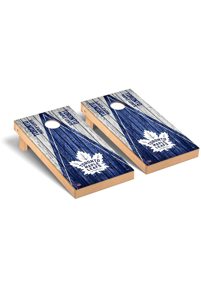 Toronto Maple Leafs Triangle Regulation Cornhole Tailgate Game - Image 1