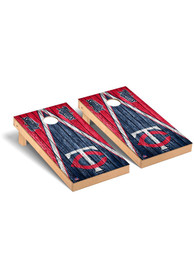 Minnesota Twins Triangle Regulation Cornhole Tailgate Game