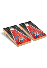 Miami Marlins Triangle Regulation Cornhole Tailgate Game