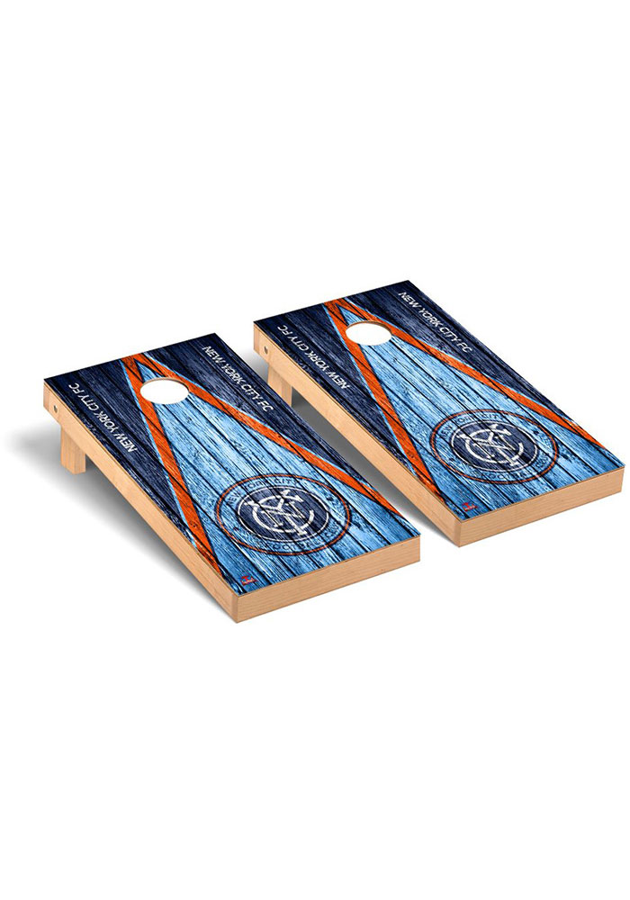 New York City FC Triangle Regulation Cornhole Tailgate Game - Image 1
