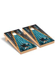 San Jose Sharks Triangle Regulation Cornhole Tailgate Game