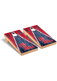 Ole Miss Rebels Triangle Regulation Cornhole Tailgate Game