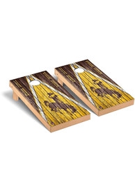 Wyoming Cowboys Triangle Regulation Cornhole Tailgate Game