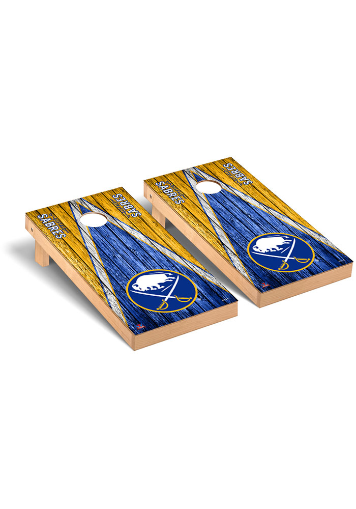 Buffalo Sabres Triangle Regulation Cornhole Tailgate Game
