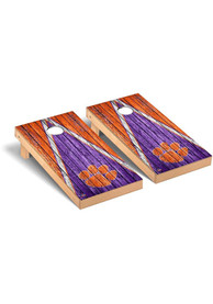 Clemson Tigers Triangle Regulation Cornhole Tailgate Game