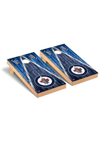 Winnipeg Jets Triangle Regulation Cornhole Tailgate Game