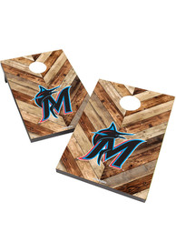 Miami Marlins 2X3 Cornhole Bag Toss Tailgate Game