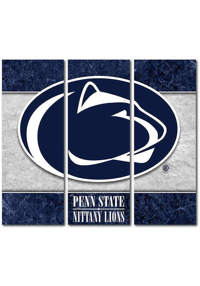 Penn State Nittany Lions 3 Piece Border Canvas Wall Art - Image 1