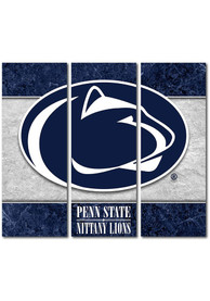 Penn State Nittany Lions 3 Piece Border Canvas Wall Art