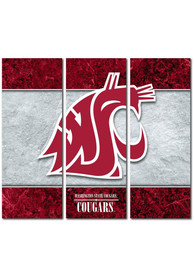 Washington State Cougars 3 Piece Border Canvas Wall Art