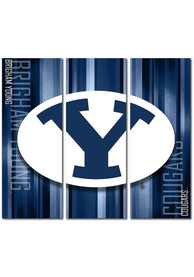 BYU Cougars 3 Piece Rush Canvas Wall Art
