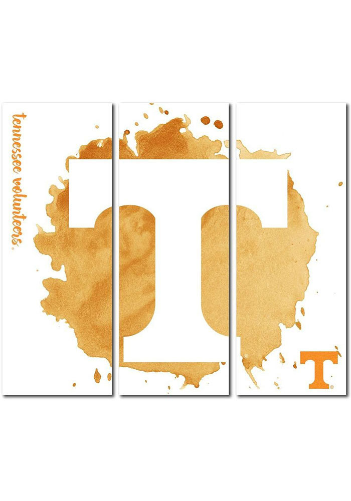 Tennessee Volunteers 3 Piece Watercolor Canvas Wall Art - Image 1