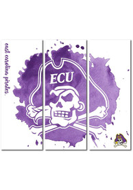 East Carolina Pirates 3 Piece Watercolor Canvas Wall Art