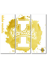 Idaho Vandals 3 Piece Watercolor Canvas Wall Art