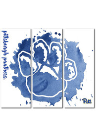Pitt Panthers 3 Piece Watercolor Canvas Wall Art