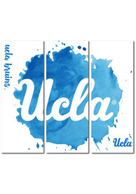 UCLA Bruins 3 Piece Watercolor Canvas Wall Art
