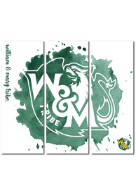 William & Mary Tribe 3 Piece Watercolor Canvas Wall Art