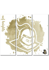 UCF Knights 3 Piece Watercolor Canvas Wall Art