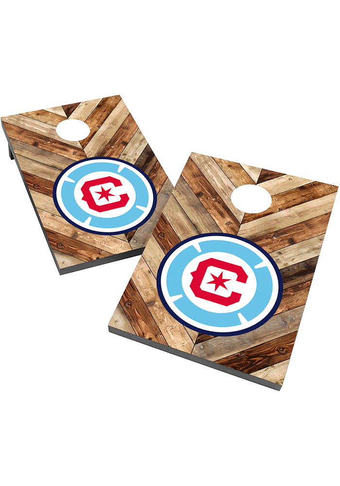 Chicago Fire 2X3 Cornhole Bag Toss Tailgate Game - Image 1