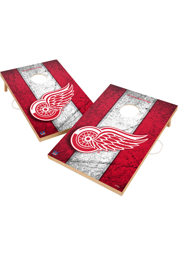 Detroit Red Wings Vintage 2x3 Cornhole Tailgate Game - Image 1
