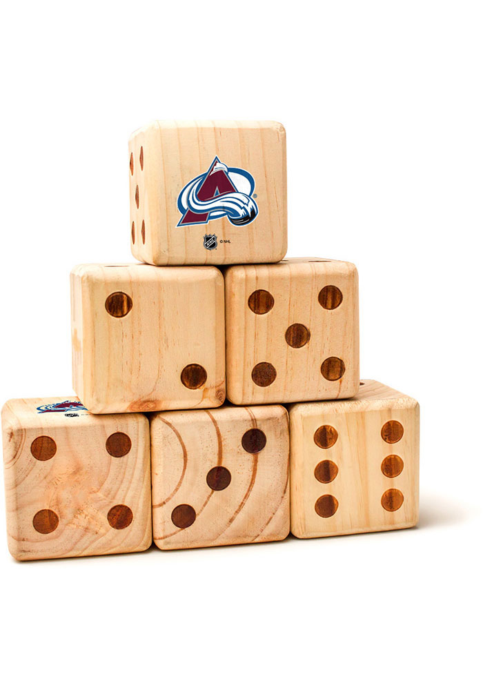Colorado Avalanche Yard Dice Tailgate Game - Image 1