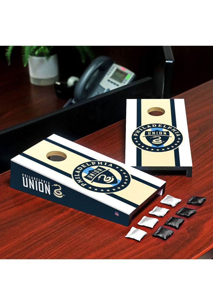 Philadelphia Union Desktop Cornhole Desk Accessory - Image 1