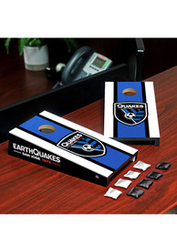 San Jose Earthquakes Desktop Cornhole Desk Accessory