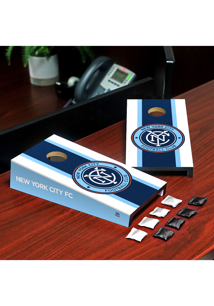 New York City FC Desktop Cornhole Desk Accessory - Image 1