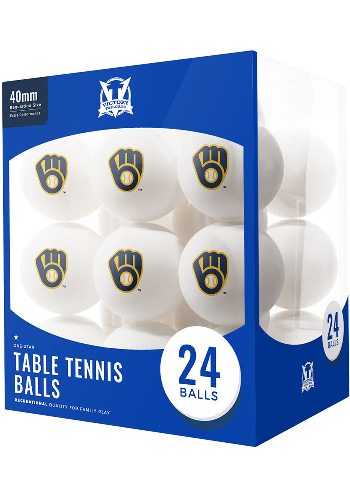 Milwaukee Brewers 24 Count Balls Table Tennis - Image 1