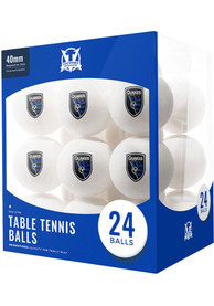 San Jose Earthquakes 24 Count Balls Table Tennis
