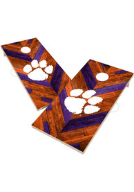 Clemson Tigers 2x4 Cornhole Set Tailgate Game