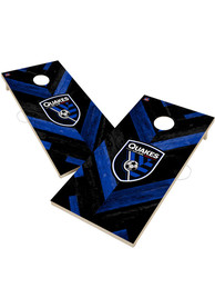 San Jose Earthquakes 2x4 Cornhole Set Tailgate Game