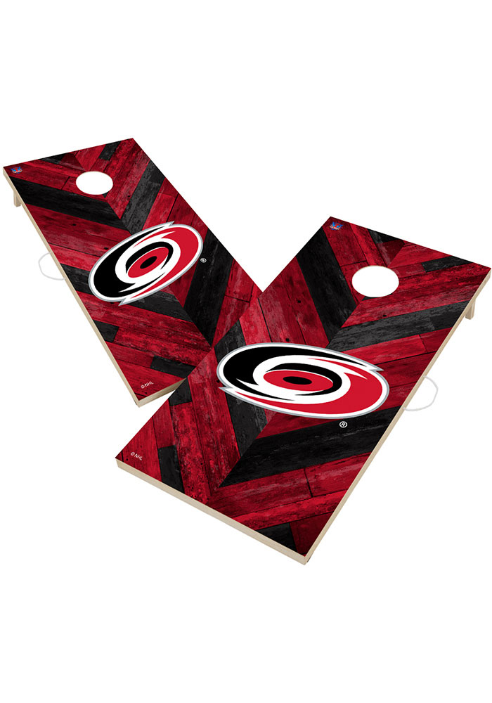 Carolina Hurricanes 2x4 Cornhole Set Tailgate Game - Image 1