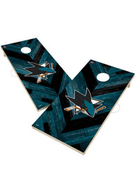 San Jose Sharks 2x4 Cornhole Set Tailgate Game