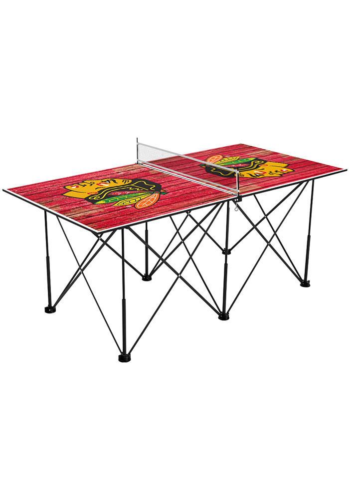 Chicago Blackhawks Pop Up Table Tennis - Image 1