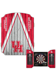 Houston Cougars Team Logo Dart Board Cabinet