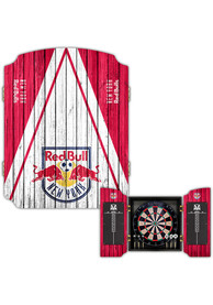 New York Red Bulls Team Logo Dart Board Cabinet