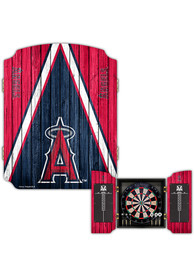 Los Angeles Angels Team Logo Dart Board Cabinet